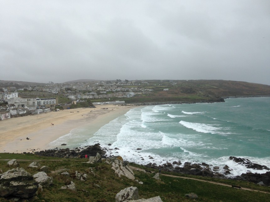 Porthmeor from The Island