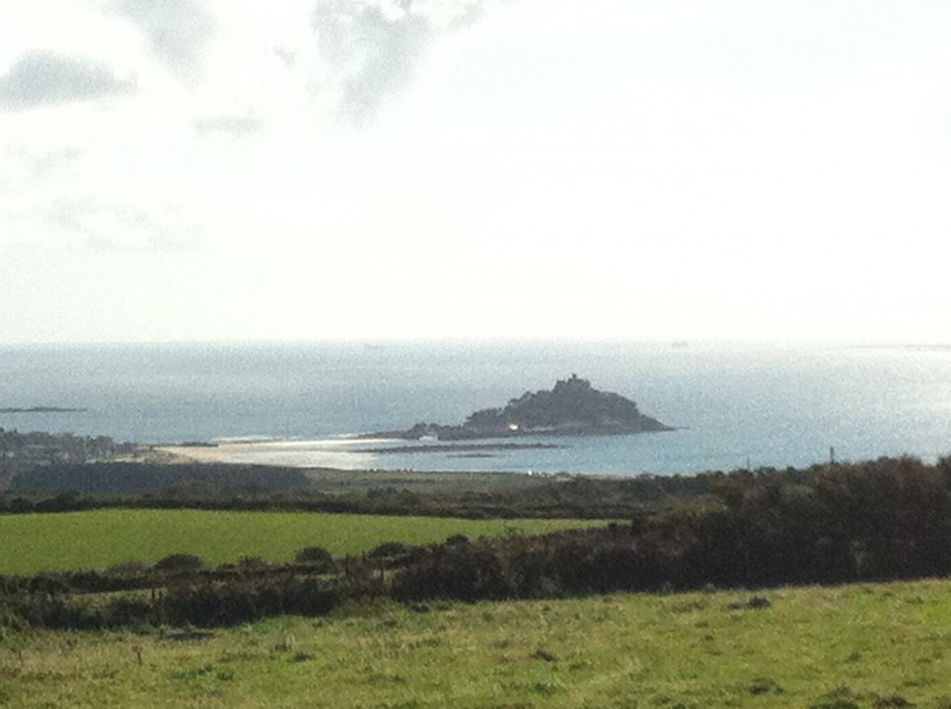 View of St Michaels Mount from our special vantage point