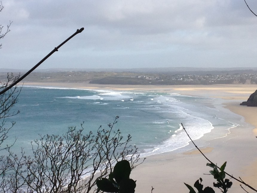 View across to Hayle Sands from the coastal path