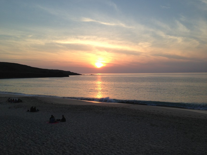 Sunset at Porthmeor Beach